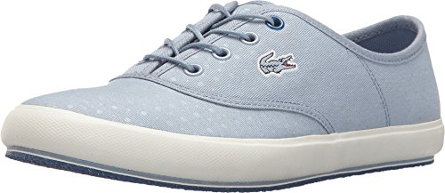 Lacoste Women's Amaud Light Blue Sneaker 9.5 M
