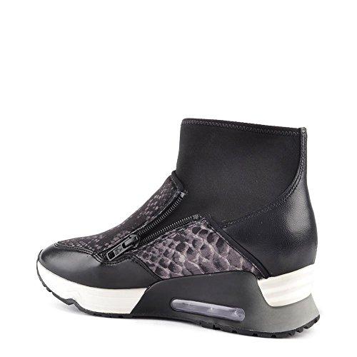 Mujer De Cuero Ash Zapatillas Bis Zapatos Liu Negro awgI4qn6Yx