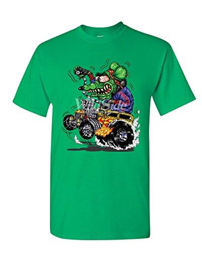 8 Ball Yellow Hot Rod T-Shirt Crazy Green Monster Rat Muscle Car Mens Tee Shirt Green 2XL