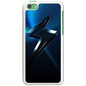 Apple iPhone 5C Cases Customized Gifts Of 3D Graphics Lightning Bolt 3d D White
