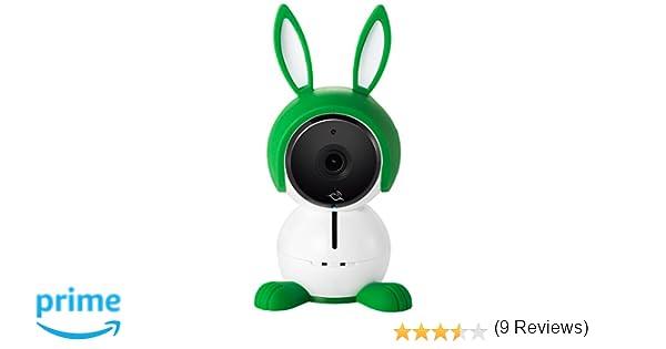 Arlo Baby ABC1000-100EUS - Cámara de seguridad HD 1080p (con carcasa de conejito, visión nocturna, alertas de movimiento y sonidos, sensor de aire, ...