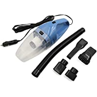 uxcell DC 12V 120W Portable Auto Car Handheld Wet Dry Vacuum Dirt Cleaner Duster Blue