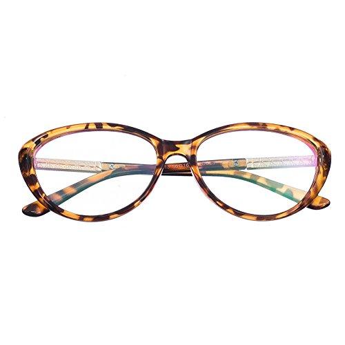 Bi Tao Cat Eye Women Transition Lens Photochromic Brown Reading Glasses 5.00 Strengths Women Fashion Cateyes Reading - Transition Prescription Non Lenses