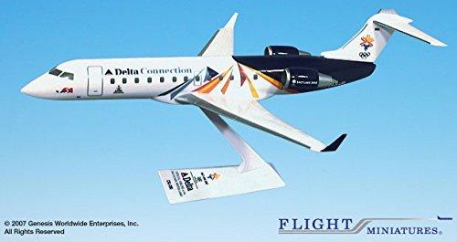 - Flight Miniatures Delta Connection ASA Olympic 2002 Salt Lake City Olympics Canadair CRJ200 1:100 Scale