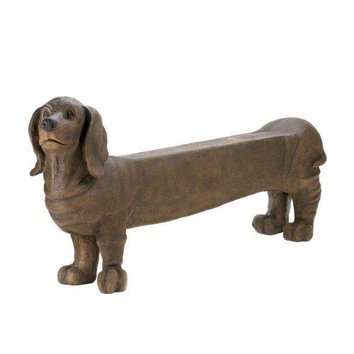 Cheap DACHSHUND DOGGY INDOOR OUTDOOR LOVE SEAT GARDEN BENCH