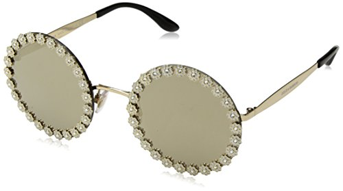 Dolce & Gabbana Women's Daisy Round Sunglasses, White/Gold, One - And Dolce Sunglasses Gabbana Flower