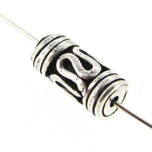 Sterling Silver Bali Tube - 6