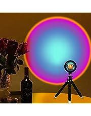Sunset Lamp, Sunset Projection Light,Rainbow Projection Lamp Led 360 Degree Rotation Projection Led Night Light/for Photography/Bedroom Decor, USB Charging