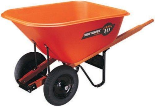 Ames-True-Temper-BP10-10-Cubic-Foot-Poly-Tray-Dual-Wheel-Contractor-Wheelbarrow