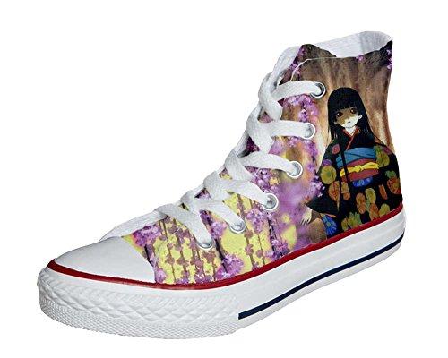 Converse PERSONALIZZATE All Star Hi Canvas, Sneaker Uomo/Donna (Prodotto Artigianale) Fiori Fata fantasy