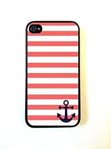 Bereadyship For iphone 6 plus 5.5 Case Protective for iphone 6 plus 5.5 Case Coral And White Stripes Blue Anchor Sailor Sea Life