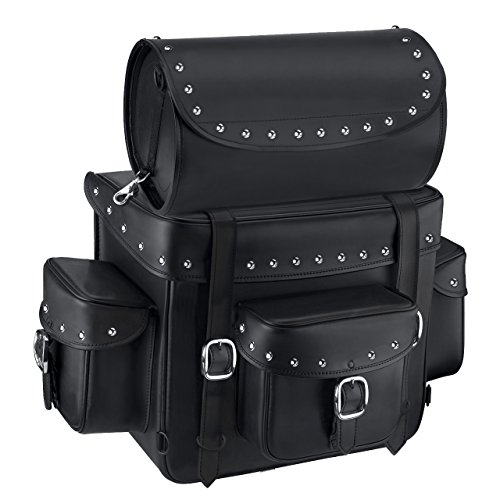 (Nomad USA Revival Series Large Studded Motorcycle Sissy Bar Bag)