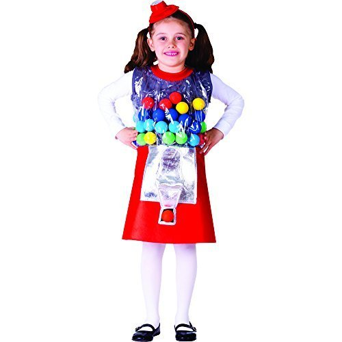 Gumball Machine Costume - Size Medium 8-10 by Dress Up America ()