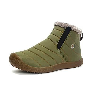 gracosy dam herr snö ankelstövlar päls fodrad varm vinter booties lätta utomhus platt slip på stövlar skor halkskydd vardaglig vandring promenadstövlar för unisex par träningsskor sportskor
