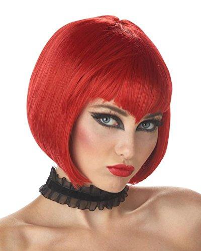 POPLife Va Va Vamp Vampire Adult Costume Wig - Dark Red (Va Va Vamp Wig)