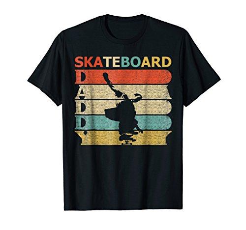 Retro Vintage Daddy Skateboard T-Shirt Funny Skater Dad Gift
