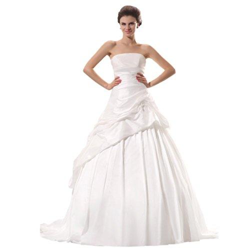 Strapless Wedding Court Sleeveless Line A Dearta Ivory Dresses Train Women's CBqRn7