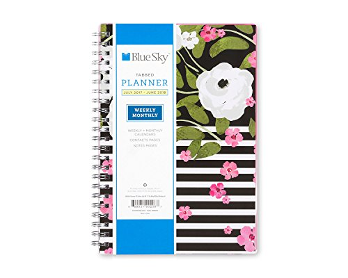 "Blue Sky 2017-2018 Academic Year Weekly & Monthly Planner, Twin-Wire Bound, 5"" x 8"", Celine -  Blue Sky the Color of Imagination, LLC, 100208"