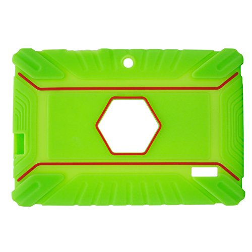 Transwon 7 Inch Kids Case Compatible with INONI Kids Tablet Android 6.0, Ainol Q88, TOPELOTEK 7, Dragon Touch Y88X Plus, Tagital 7 T7K, Contixo Kids Tablet K2 K3 - Green