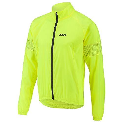 (Louis Garneau Men's Modesto 3 Bike Safety Windbreaker Jacket, Bright Yellow,)