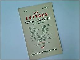Book Les Lettres. Poésie Nouvelle. Théatre Spatialiste. No. 35.