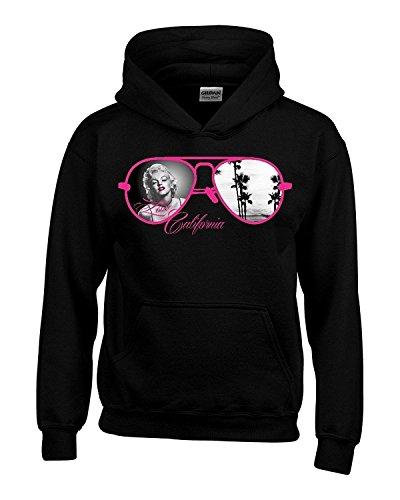 18500 Marilyn Monroe Pink Sunglasses Hoodie Unisex Marilyn Monroe Sweatshirts Large - Tilly Sunglasses