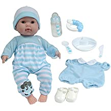 "Berenguer Boutique 15"" Soft Body Baby Doll - Blue 10 Piece Gift Set with Open/Close Eyes- Perfect for Children 2+"