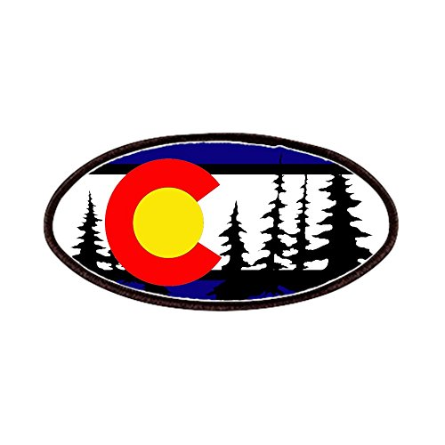 (CafePress - Colorado Trees2.Png - Patch, 4x2in Printed Novelty Applique Patch)