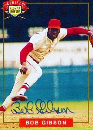 Bob Gibson Autographed 1994 Nabisco Card - Autographed Baseball Cards