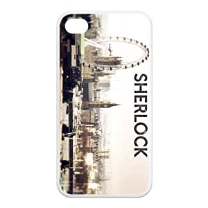 Hot TV Show Sherlock Design Case Custom Cover For Iphone 4 4s Ip4-AX80204