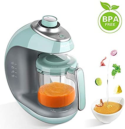Maxkare Baby Food Maker Meal Station With Toddlers With Steam Blend Chop Disinfect Clean Function 20 Oz Tritan Stirring Cupbuilt In