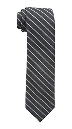Calvin Klein Men's Gold Glimmer Pinstripe Tie black, One Size