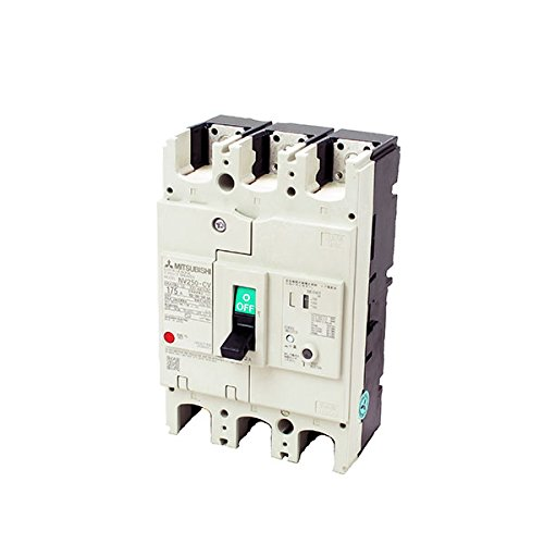 MITSUBISHI ELECTRIC NV250-CV 3P 200A 1.2.500MA Earth Leakage Circuit Breaker (Economy class) (Frame 225A) (3Poles) NN by Mitsubishi Electric