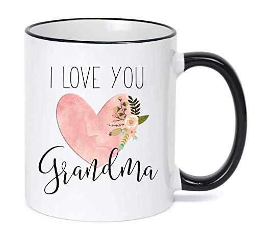 Grandma Mug Christmas Gift Birthday Gift For Grandma Heart Mug I Love You Grandma Mug Grandma Mug Grandma Cup Grandma Coffee Mug (Cup Coffee Grandma)