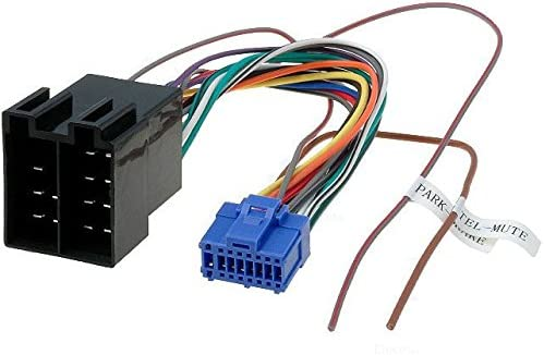 TechExpert Pioneer 16 Pin to ISO Lead Wiring Loom Power Adaptor Wire Radio Connector 24.5x10mm