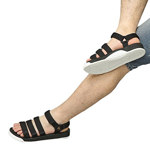 Sandal Adjustable Shoes Sports Meijunter w Leather Soft Unisex Slippers Black slip Non White Strap Beach qZAnqtEBf