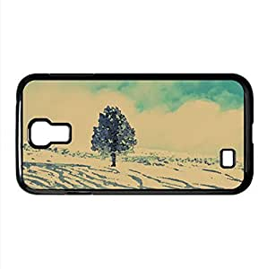 Snowy Lone Tree Watercolor style Cover Samsung Galaxy S4 I9500 Case (Winter Watercolor style Cover Samsung Galaxy S4 I9500 Case)