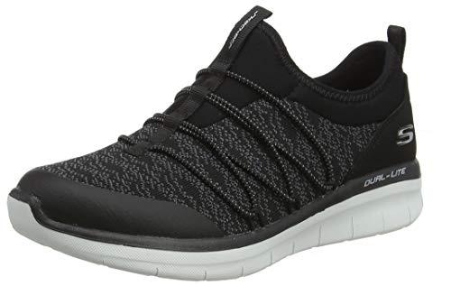 Skechers Sport Women's Synergy 2.0-Simply Chic Sneaker,black/white,9.5 M US ()