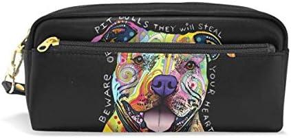 Fauna Cosmética Bolsa de maquillaje Cosmética Bolsa Monedero para estudiante Niña Niño Niños Arco iris Animal Bulldog francés Estuche de lápices Cremallera Bolso estacionario: Amazon.es: Hogar