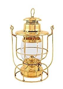 "Vermont Lanterns - Railroad Lantern 12"" - Brass Train Oil Lamp"