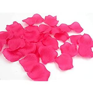 1500PCS Wedding Flower Petals Rose Confetti Hot Pink Party Reception Table Aisle Runner Decorations Proposal Props 17