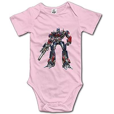 Kids Optimus Prime Transformer Baby Bodysuits Rompers Unisex Boys Girls 100% Cotton