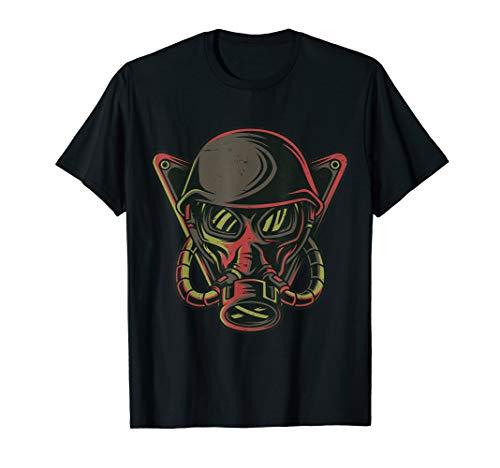 Doomsday Preparedness Survivalist Prepper Gas Mask  T-Shirt