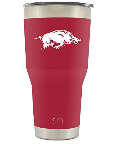 Simple Modern University of Arkansas 30oz Cruiser Tumbler - Vacuum Insulated Stainless Steel Hogs Travel Mug - Razorbacks Woo Pig Sooie Tailgating Hydro Cup College Flask