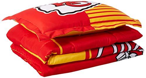 The Northwest Company NFL Kansas City Chiefs Twin Comforter and Sham, One Size, Multicolor - Kansas City Chiefs Sheet Set