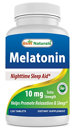- Best Naturals Melatonin 10mg 120 Tablets - Drug-Free Nighttime Sleep Aid - Melatonin for Sleep and Relaxation