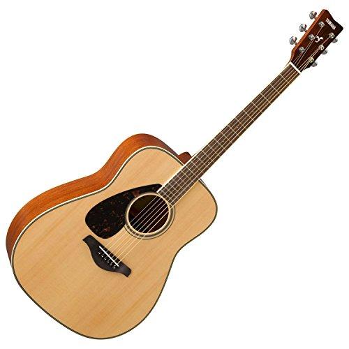 Yamaha FG820LNT LEFT-HANDED Solid Sitka Spruce Top Natural Folk Acoustic Guitar ()