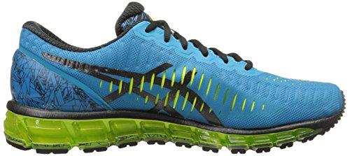 Chaussures De Running Gel-quantum 360 Asics Mens Turquoise / Noir / Flash Jaune