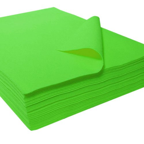 Acrylic Craft Felt Packages (25pcs/pack), Apple Green
