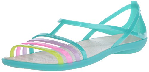 crocs Women's Isabella Jelly Sandal, Island Green, 11 M (Isabella Green)
